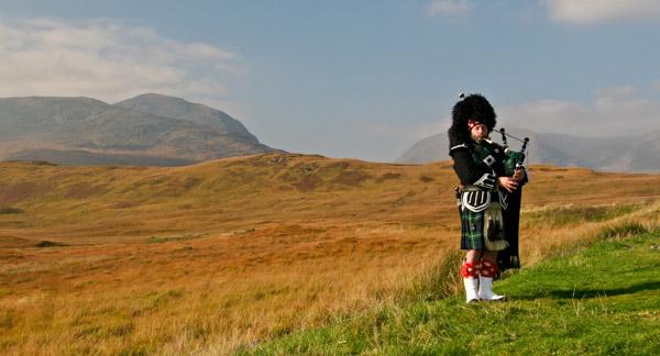 Gaitas escocesas en las Highlands