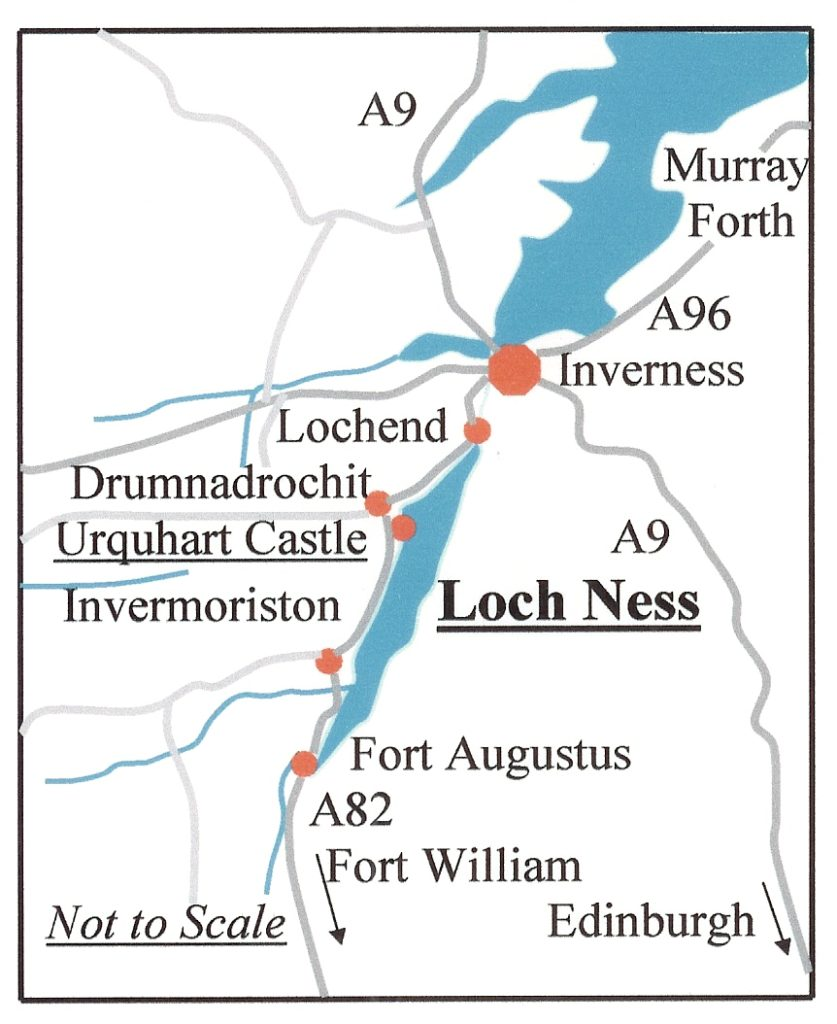 Puntos de interés alrededor del Lago Ness