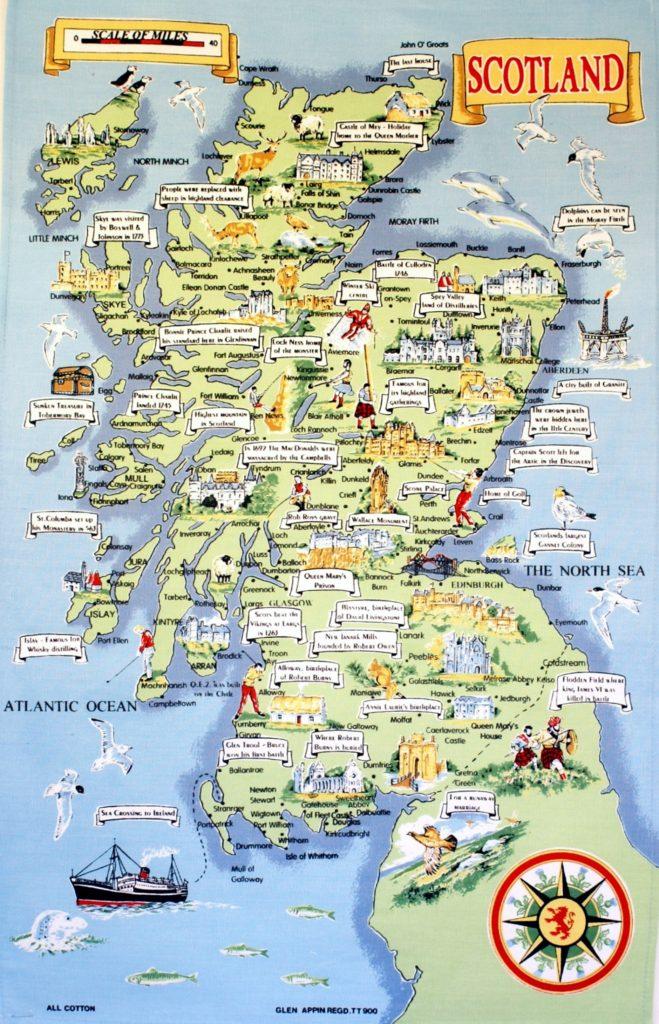 Mapa turístico de Escocia
