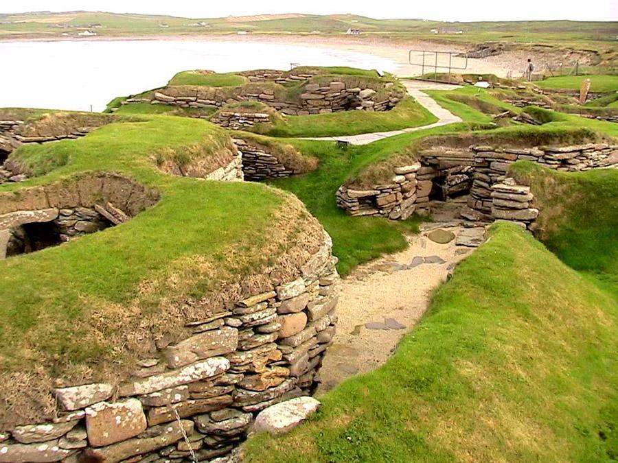 Yacimiento de Skara Brae en las Islas Orcadas