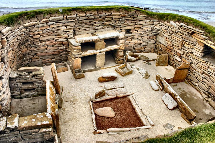 Interior de una casa de Skara Brae