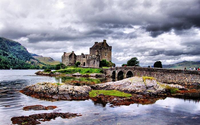 El famoso castillo de Eilean Donan