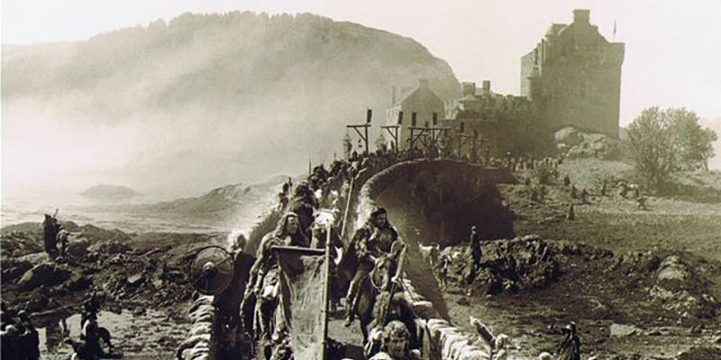 Escena de los Inmortales en Eilean Donan