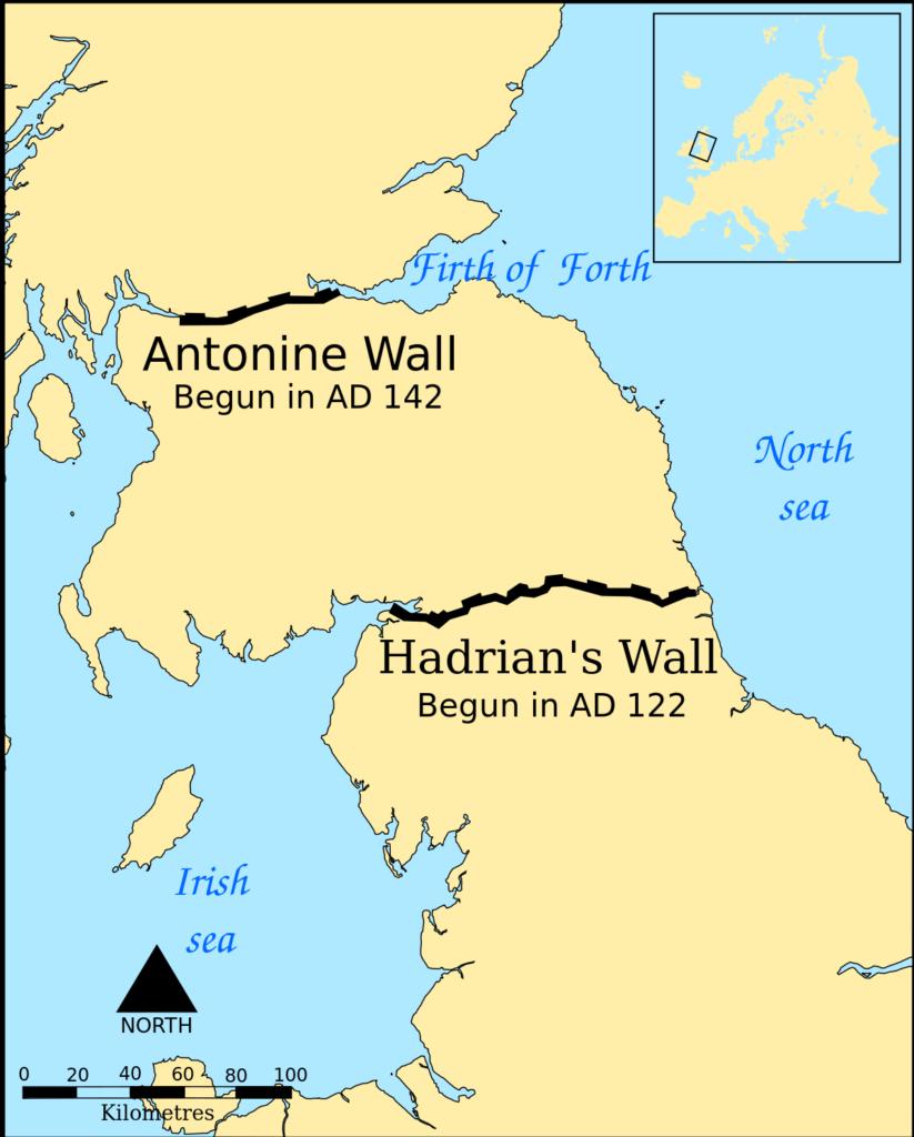 Ubicación del Muro de Adriano